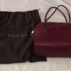 Gucci Bree Dome Tote in Ruby Red